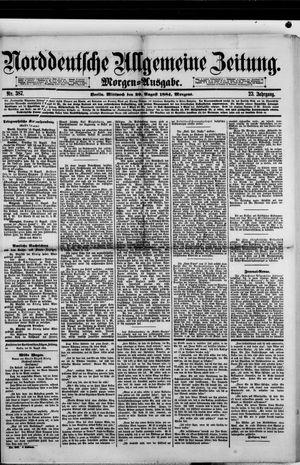 Norddeutsche allgemeine Zeitung vom 20.08.1884