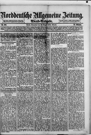 Norddeutsche allgemeine Zeitung on Aug 23, 1884