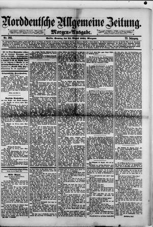 Norddeutsche allgemeine Zeitung vom 24.08.1884