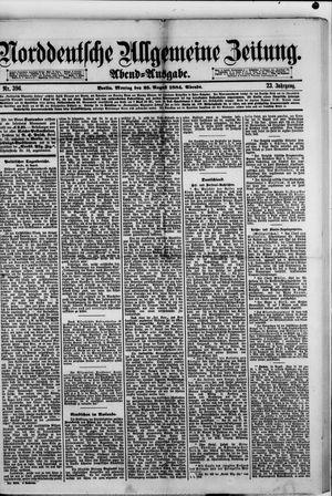Norddeutsche allgemeine Zeitung vom 25.08.1884