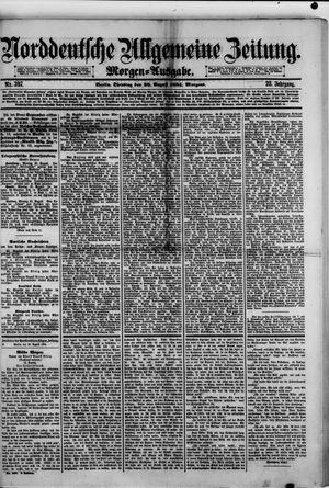 Norddeutsche allgemeine Zeitung vom 26.08.1884
