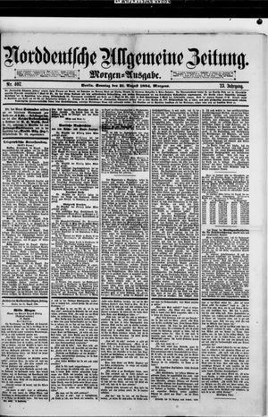 Norddeutsche allgemeine Zeitung on Aug 31, 1884