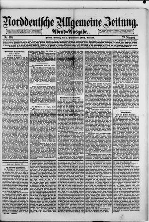 Norddeutsche allgemeine Zeitung vom 01.09.1884