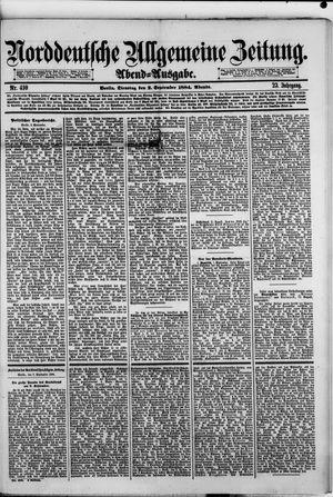Norddeutsche allgemeine Zeitung vom 02.09.1884