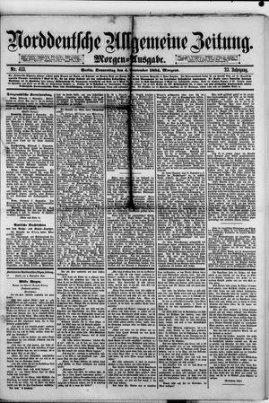 Norddeutsche allgemeine Zeitung vom 04.09.1884