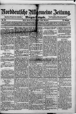Norddeutsche allgemeine Zeitung vom 05.09.1884