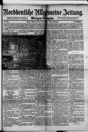 Norddeutsche allgemeine Zeitung vom 06.09.1884