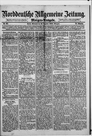 Norddeutsche allgemeine Zeitung vom 31.12.1884
