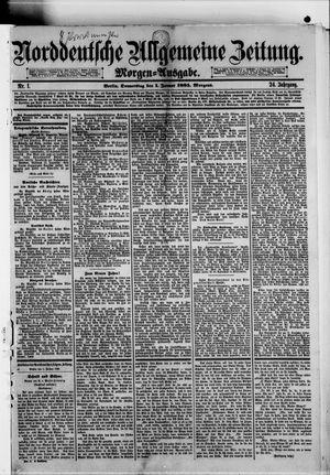 Norddeutsche allgemeine Zeitung vom 01.01.1885
