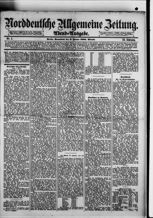 Norddeutsche allgemeine Zeitung vom 03.01.1885