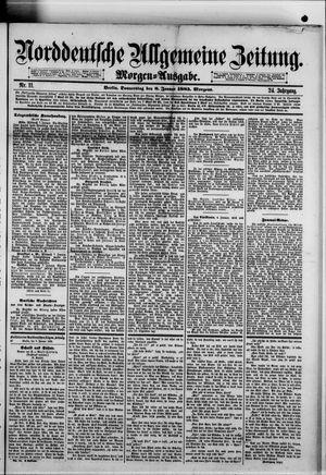 Norddeutsche allgemeine Zeitung vom 08.01.1885