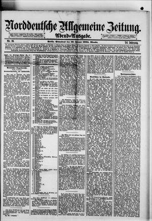 Norddeutsche allgemeine Zeitung on Jan 10, 1885