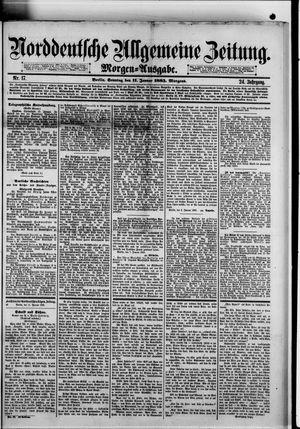 Norddeutsche allgemeine Zeitung vom 11.01.1885