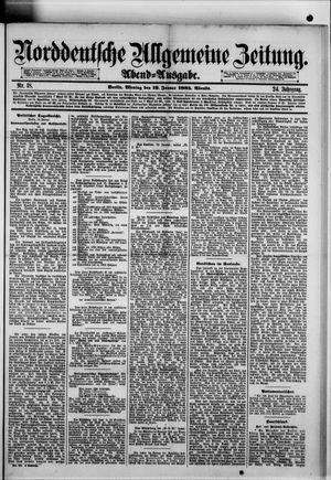 Norddeutsche allgemeine Zeitung vom 12.01.1885