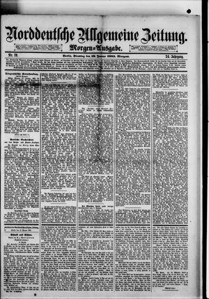 Norddeutsche allgemeine Zeitung vom 13.01.1885