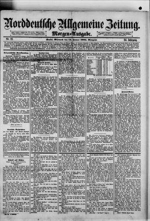 Norddeutsche allgemeine Zeitung vom 14.01.1885