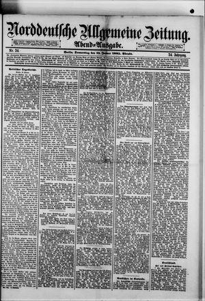 Norddeutsche allgemeine Zeitung vom 15.01.1885