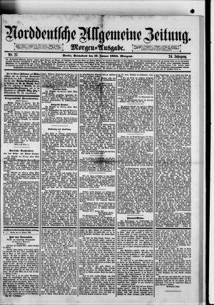 Norddeutsche allgemeine Zeitung vom 17.01.1885