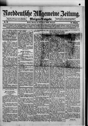 Norddeutsche allgemeine Zeitung vom 18.01.1885