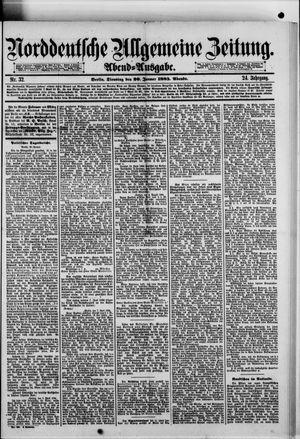 Norddeutsche allgemeine Zeitung vom 20.01.1885