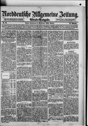 Norddeutsche allgemeine Zeitung vom 22.01.1885