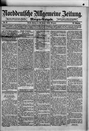Norddeutsche allgemeine Zeitung vom 23.01.1885