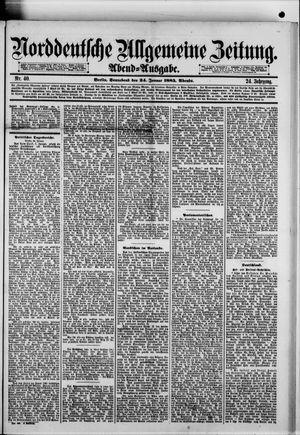 Norddeutsche allgemeine Zeitung vom 24.01.1885