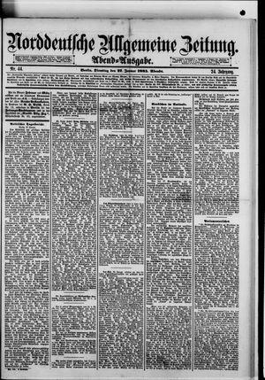 Norddeutsche allgemeine Zeitung vom 27.01.1885