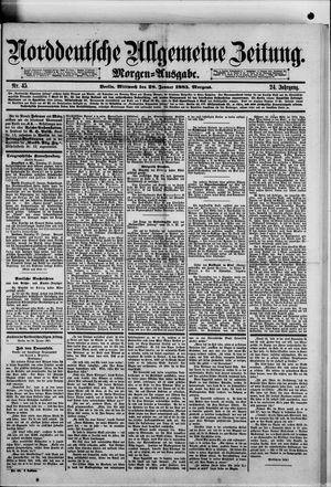 Norddeutsche allgemeine Zeitung vom 28.01.1885