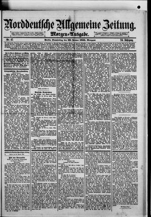 Norddeutsche allgemeine Zeitung vom 29.01.1885