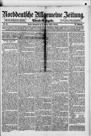 Norddeutsche allgemeine Zeitung vom 07.02.1885