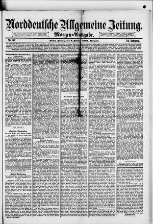 Norddeutsche allgemeine Zeitung vom 08.02.1885
