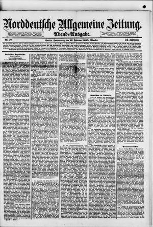Norddeutsche allgemeine Zeitung vom 12.02.1885