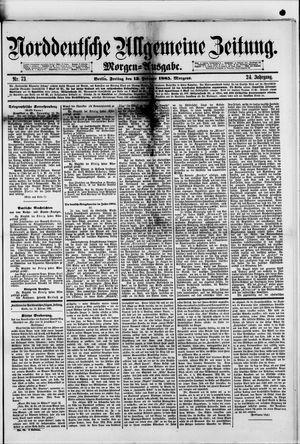 Norddeutsche allgemeine Zeitung vom 13.02.1885