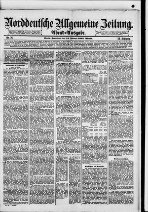 Norddeutsche allgemeine Zeitung vom 14.02.1885