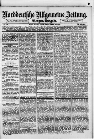 Norddeutsche allgemeine Zeitung vom 17.02.1885
