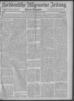 Norddeutsche allgemeine Zeitung vom 18.02.1885