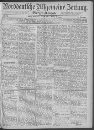 Norddeutsche allgemeine Zeitung vom 19.02.1885