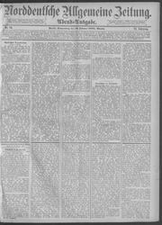 Norddeutsche allgemeine Zeitung (19.02.1885)