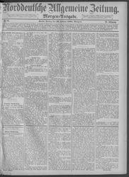 Norddeutsche allgemeine Zeitung (20.02.1885)