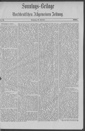 Norddeutsche allgemeine Zeitung vom 22.02.1885