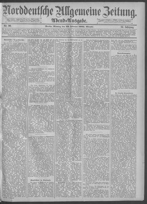 Norddeutsche allgemeine Zeitung vom 23.02.1885