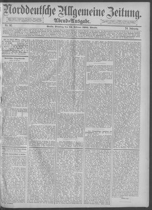 Norddeutsche allgemeine Zeitung vom 24.02.1885