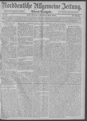 Norddeutsche allgemeine Zeitung vom 25.02.1885