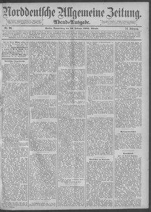 Norddeutsche allgemeine Zeitung vom 26.02.1885