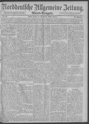 Norddeutsche allgemeine Zeitung vom 27.02.1885