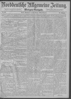Norddeutsche allgemeine Zeitung vom 28.02.1885