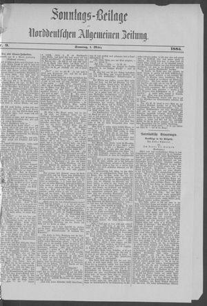 Norddeutsche allgemeine Zeitung vom 01.03.1885