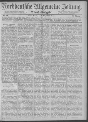Norddeutsche allgemeine Zeitung vom 03.03.1885
