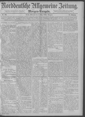 Norddeutsche allgemeine Zeitung vom 04.03.1885